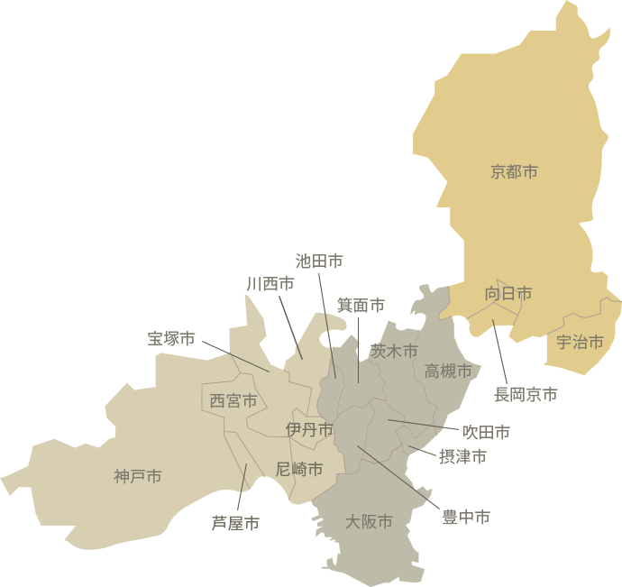 京阪神地図